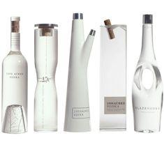 "Love these unique bottles for ""1000 Acres Vodka"" via considertheaesthetic.tumblr.com"