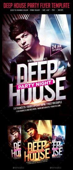 9 Best Edm House And Dubstep Night Club Flyer Templates For