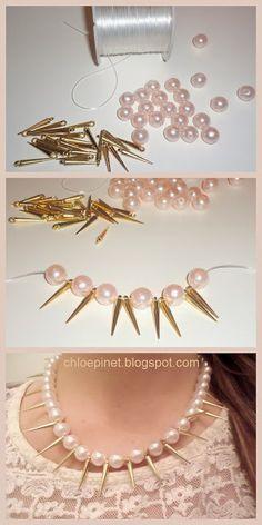 Collar de perlas: Tutoriales DIY de Moda y Accesorios por Chloé Pinet