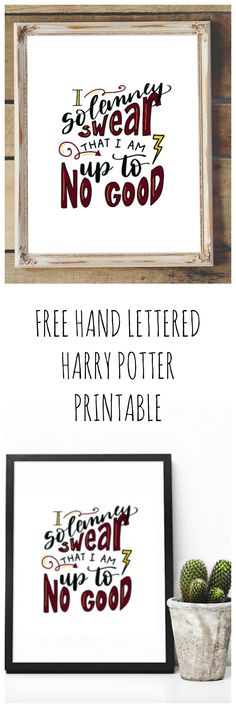 Modern-day Inside Style In Your Laundry Space Free Hand Lettered Harry Potter Printable - Amy Latta Creations Free Printable Art, Printable Quotes, Printable Invitations, Binder Labels, Harry Potter Printables, School Scrapbook, Beautiful Lettering, Green Books, Harry Potter Quotes
