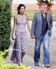 George Clooney and Amal in Italy   George and Amal Clooney Look Glamorous as Ever on Italian Date Night