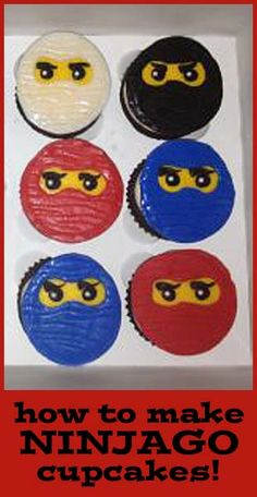 How to make Ninjago Cupcakes and other tutorials here.