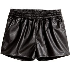H&M Short shorts ($15) ❤ liked on Polyvore featuring shorts, black, bottoms, blablabla, black hot pants, hot shorts, mini short shorts, elastic waist shorts and h&m shorts