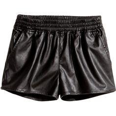 H&M Short shorts (€21) ❤ liked on Polyvore featuring shorts, bottoms, blablabla, black, black elastic waist shorts, elastic waistband shorts, mini shorts, h&m and black hot pants