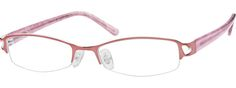 7625 Stainless Steel Half-Rim Frame with Acetate Temples