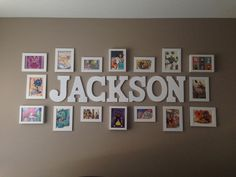 Disney Themed Nursery. The picture frames contain postcards (bought in Disneyland) and pictures cut out from Disney books.