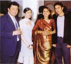 Ranbir Kapoor with his family...