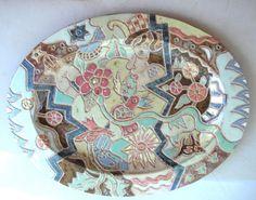 Garden of Eden Ceramic Platter by Ceramicvisions on Etsy, $200.00