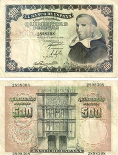 Billete de 500 pesetas 1946, Madrid Money Notes, Back In The Day, Fountain Pen, Card Templates, Things To Come, Stamp, Ebay, Paper, Cards