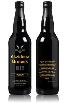 Akzidenz-Grotesk Beer by João Andrade, via Behance