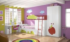 Habitaciones infantiles temáticas paisajes dibujos animados HK5