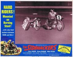 Just listed on Ebay some cool auto racing & motorcycle racing posters and lobby cards. Check 'em out!   SIDEHACKERS - 1969 - Orig 11x14 Lobby Card #6 - awesome MOTORCYCLE RACING photo