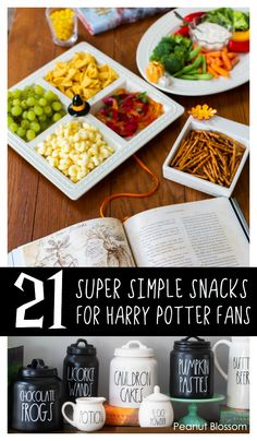21 super easy Harry Potter snacks for movie night or an epic read-aloud session with your kids! Make magical memories together with hardly any effort. These clever Harry Potter treats simply require a quick trip to the grocery store and some easy presentation. #harrypotterfood #harrypottersnacks #harrypotterrecipes