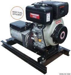 Slow-Turning 5 kW Yanmar Diesel Generators have a slow speed design enhances diesel engine life and significantly decreases sound levels and fuel consumption. Small Diesel Generator, Typing Hacks, Emergency Generator, Cummins Diesel Engines, Mini Excavator, Rv Hacks, Solar Lights, Renewable Energy, Sailboat