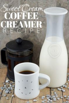 coffee benefits How to make Homemade Sweet Cream Coffee Creamer (recipe) Healthy Coffee Creamer, Homemade Coffee Creamer, Italian Sweet Cream Coffee Creamer Recipe, Vanilla Sweet Cream Recipe, Vanilla Coffee Creamer, Green Coffee Extract, Sweet Coffee, Black Coffee, Brown Coffee