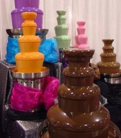 Multicolor Chocolate Fountains :)