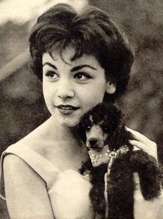 Annette Funicello at 16 in 1959 with her poodle friend… what do you remember special about Annette? Description from pinterest.com. I searched for this on bing.com/images