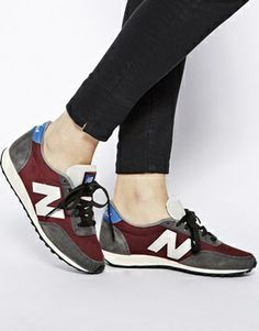 Image 4 of New Balance Burgundy 410 Heritage Trainers
