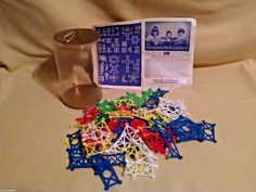 Knupferli Dusyma Vintage Construction Game Plastic Lattice West Germany Rare #Dusyma