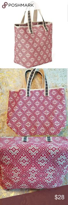 """Gap Large Printed Tote Took the tags off but never used. Excellent condition, its been hanging in my closet. Holds a lot! The straps are long enough to carry on shoulder.  Measures Approximately:  11"""" Across the Bottom 15"""" H 8"""" Deep GAP Bags Totes"""