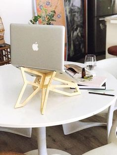 Laptop stand made from bamboo