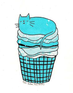 Hey, I found this really awesome Etsy listing at https://www.etsy.com/listing/81828073/sale-the-laundry-cat