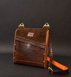 Urban Magnetik everyday bag with wooden parts by COOBwood on Etsy