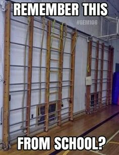Climbing frames in the school gymnasium. 1980s Childhood, My Childhood Memories, Sweet Memories, School Memories, School Days, Polly Pocket, Retro, 80s Kids, Old Toys
