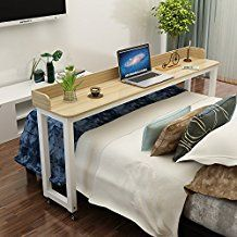 Overbed Table On Wheels Rolling Bed Table Over The Bed Table Laptop Cart Laptop Desk Mobile Desk Computer Desk 1m 1 7m For Hos Bed Table Furniture Home Bedroom