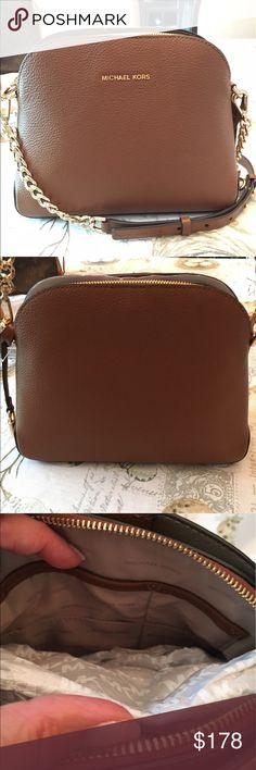 a41737612c7c Shop Women's Michael Kors Tan size x x Crossbody Bags at a discounted price  at Poshmark. Description: NWOT Michael Michael Kors Studio Mercer Medium  Dome ...