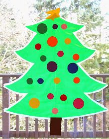 Sticky Kid-Sized Christmas Tree with reusable ornaments - you can decorate all season long! From Fun at Home with Kids Christmas Tree Canvas, Our First Christmas Ornament, Christmas Trees For Kids, Christmas Border, Painted Christmas Ornaments, Colorful Christmas Tree, Very Merry Christmas, Christmas Activities, Christmas Projects