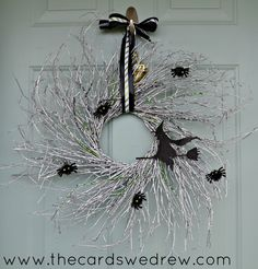 Glam Witch Halloween Wreath & Blog Hop + Martha Stewart Halloween Giveaway! - The Cards We Drew