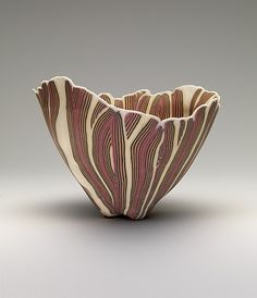 Bowl Curtis Benzle (American, born 1949)  Date:     1975 Medium:     Porcelain Dimensions:     H. 5 1/4 x D. 7 in. (13.3 x 17.8 cm) ...