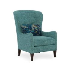 Sam Moore Mavis Wingback Chair Finish: Java, Upholstery: 2602 Oatmeal