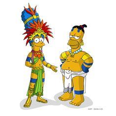 Mayan Marge & Mayan Homer