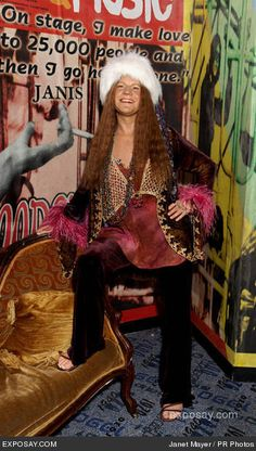 Work it, Janis! Her statue at Madame Tussaud's wax museum