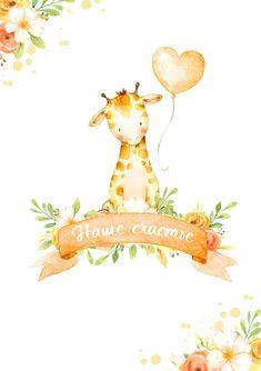 Lion Illustration, Watercolor Illustration, Watercolor Animals, Floral Watercolor, Drawing Activities, Doodles, Scrapbook Designs, Baby Scrapbook, Baby Cards