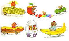 apple cart, pickle car, bananas gorilla mobile
