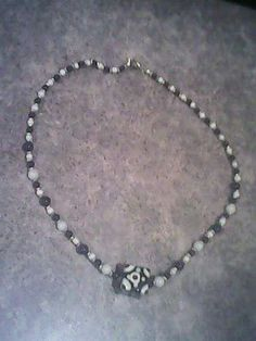 Black and White glass beaded Necklace.....$7.00