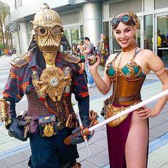 Steampunk Darth Vader and Leia #StarWars