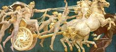 Apollo riding his golden chariot