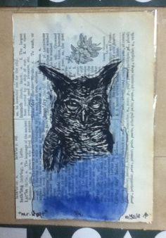 Horn Owl Illustration
