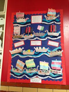 Viking long ship display