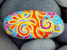 Joyful / Painted Rock / Sandi Pike Foundas / Cape Cod Sea Stone via Etsy