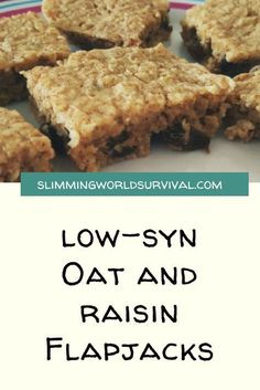 Slimming World Recipe for Low Syn Flapjacks #slimmingworld #lowsugar #flapjacks