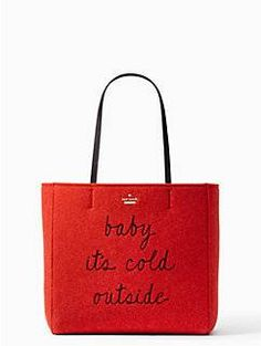 baby, it's cold outside: this bright version of our popular hallie--a roomy, open-topped tote--is perfect for the coming holiday season.