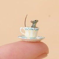 Tea cup mouse, By Beth Freeman-Kane