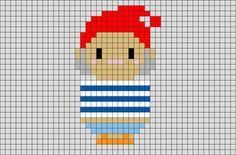 Mr Smee Peter Pan Pixel Art