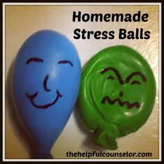 Make homemade stress balls with balloons and flour