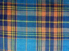 Vintage Madras Cotton Fabric